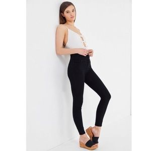 BDG Twig Seamed High Rise Skinny Jeans in Black